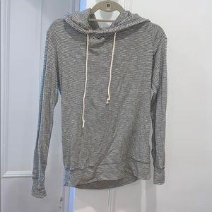Jcrew striped hooded light sweatshirt